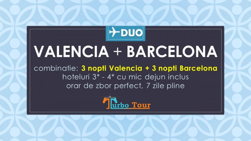 Duo city-break Valencia si Barcelona